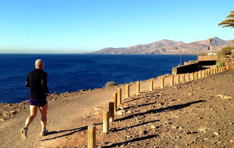 Sesión de running en el Barranco del Quíquere (Lanzarote)