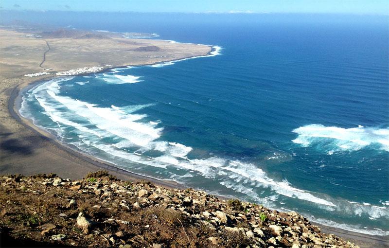 Fenómeno audiovisual en el risco de Famara (Lanzarote)