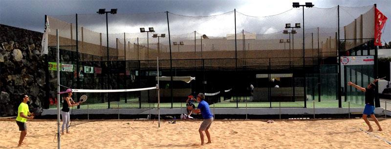 Tenis playa en Lanzarote asociado al pádel