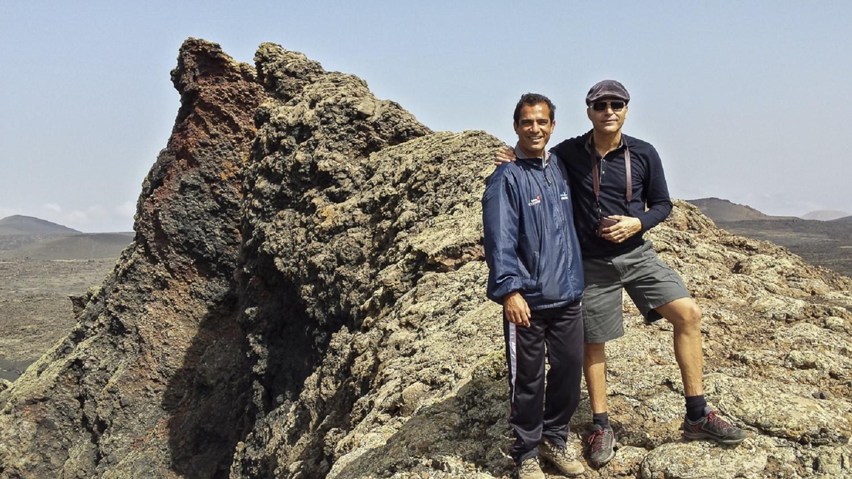 Con el fotógrafo en el Volcán del Cuervo