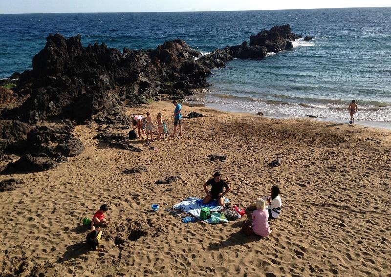 Domingo de invierno en la playa, Lanzarote