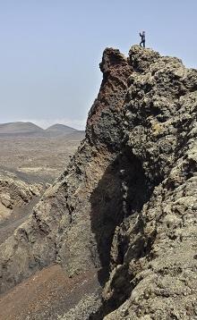 Fotografía de la cúspide del Volcán del Cuervo, Parque Natural de Los Volcanes, Lanzarote