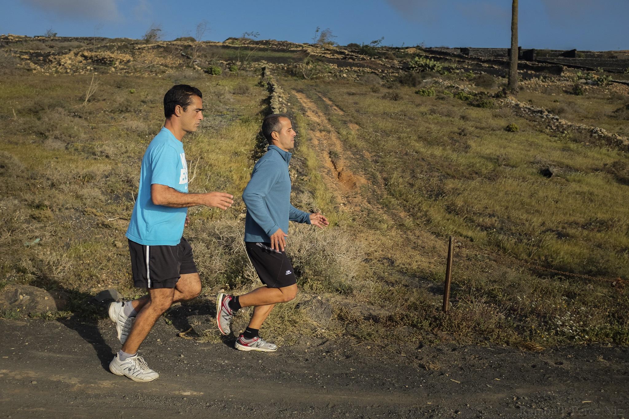 Trails se hace corriendo. Aquí el autor, Luis Arencibia, en plena faena