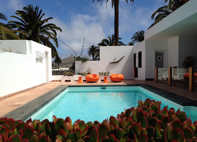 Casa-Museo de César Manrique, fotografía de la terraza piscina en Haría, Lanzarote
