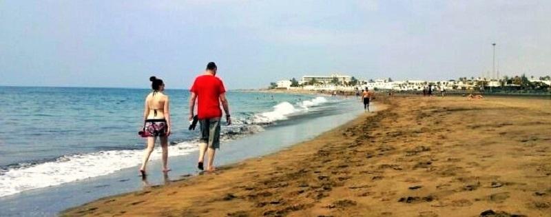 Viernes 13 de junio en la playa de Los Pocillos
