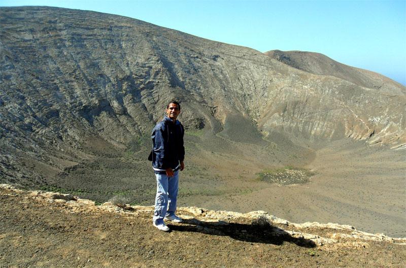 Fotografía del sendero entre Mancha Blanca-Caldera Blanca, Lanzarote