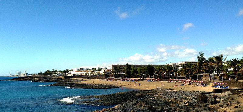 Otoño en playa Bastián, Costa Teguise, Lanzarote