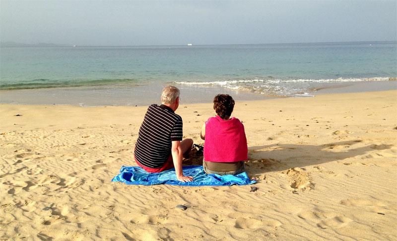 Amanecer en las playas de Papagayo, Lanzarote