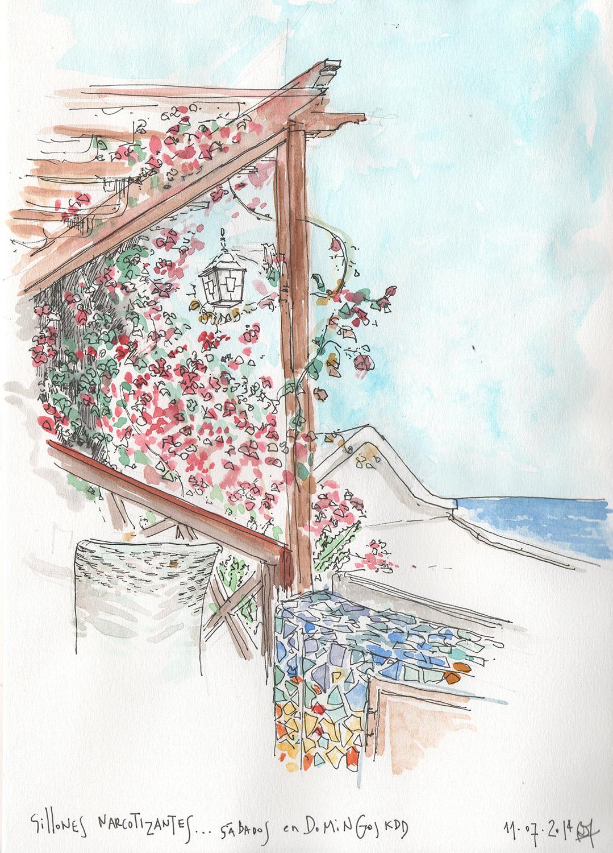 Heladería Dolomiti, dibujo de Lanzarote, por Bárbara Müller