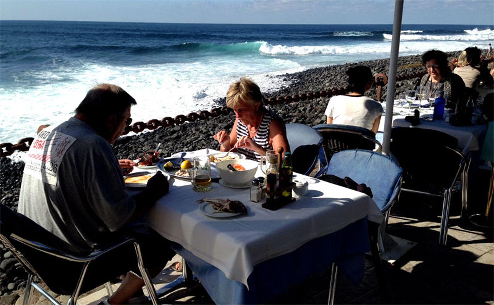 Restaurantes en Lanzarote, El Golfo. Restaurante Costa Azul