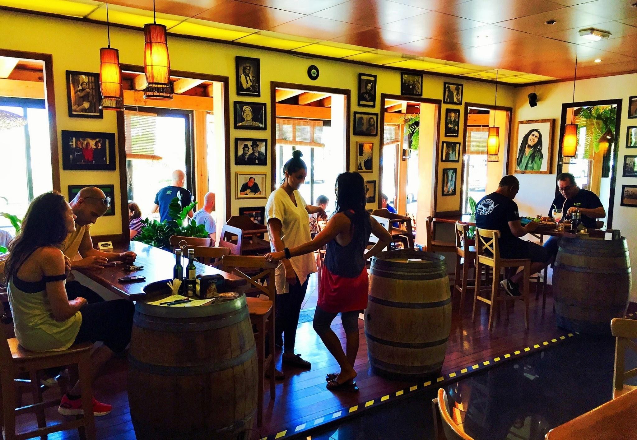 Comedor del restaurante La Bohemia de Costa Teguise, Lanzarote