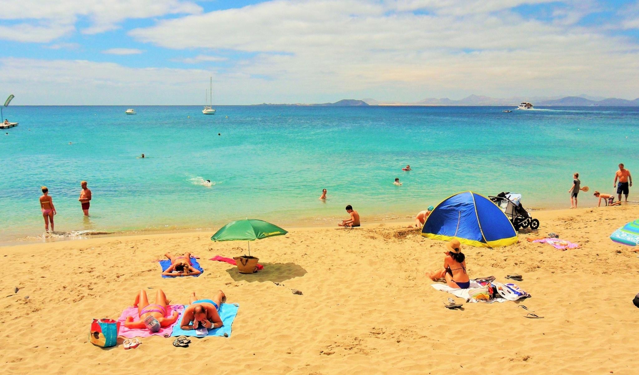 A Playa Blanca de turismo