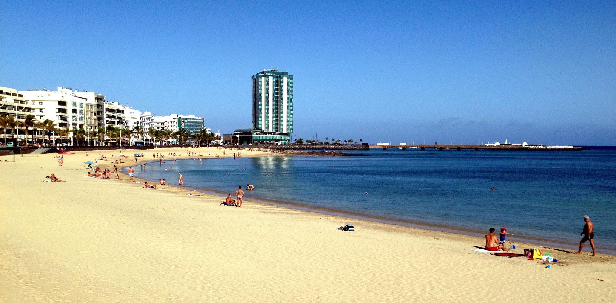 La playa de El Reducto, Arrecife de Lanzarote