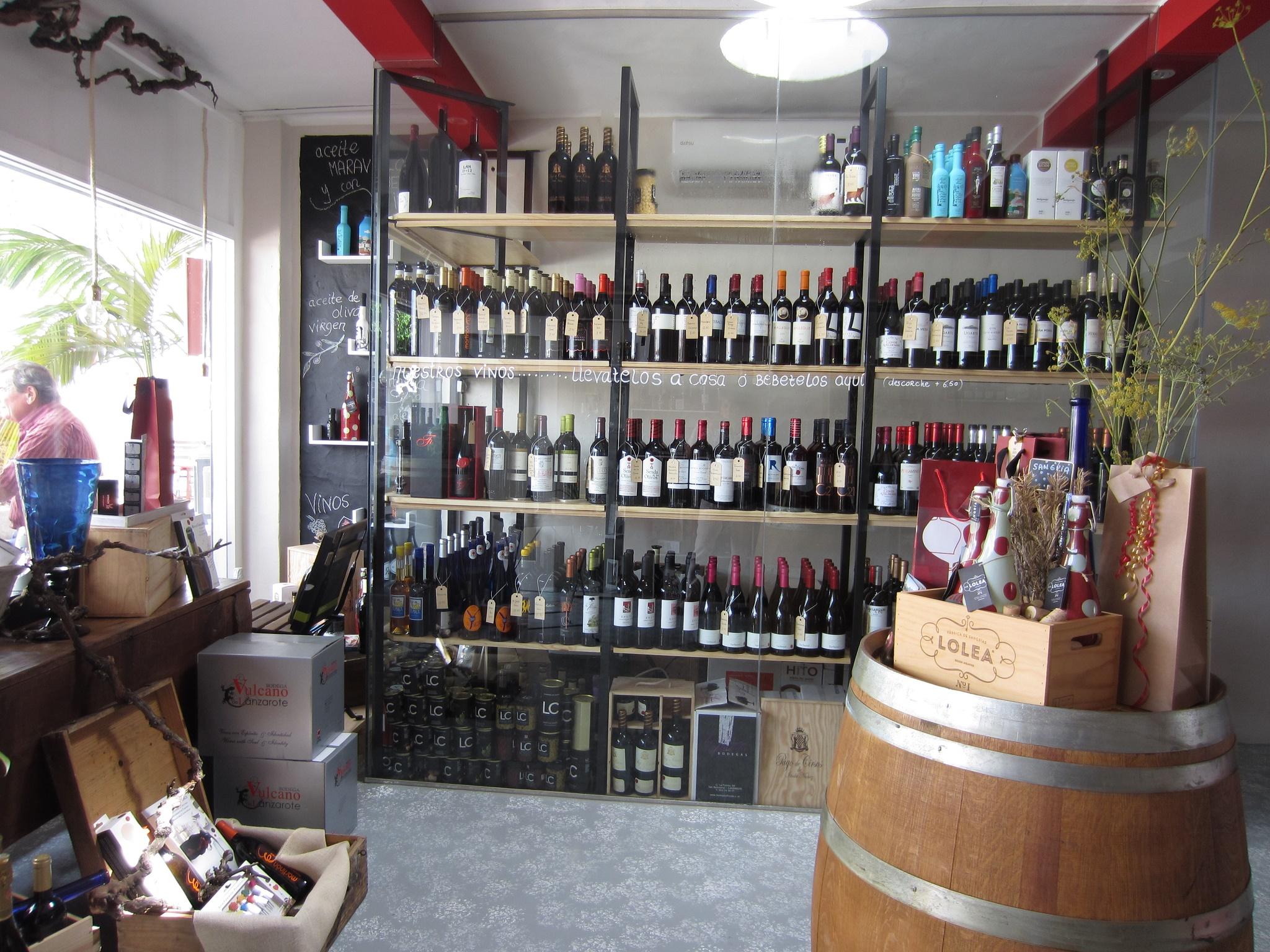 La tienda de Vino+Lanzarote