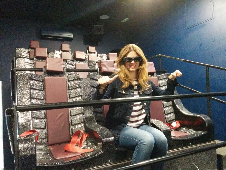 Usoa en el cine 6D Lanzarote