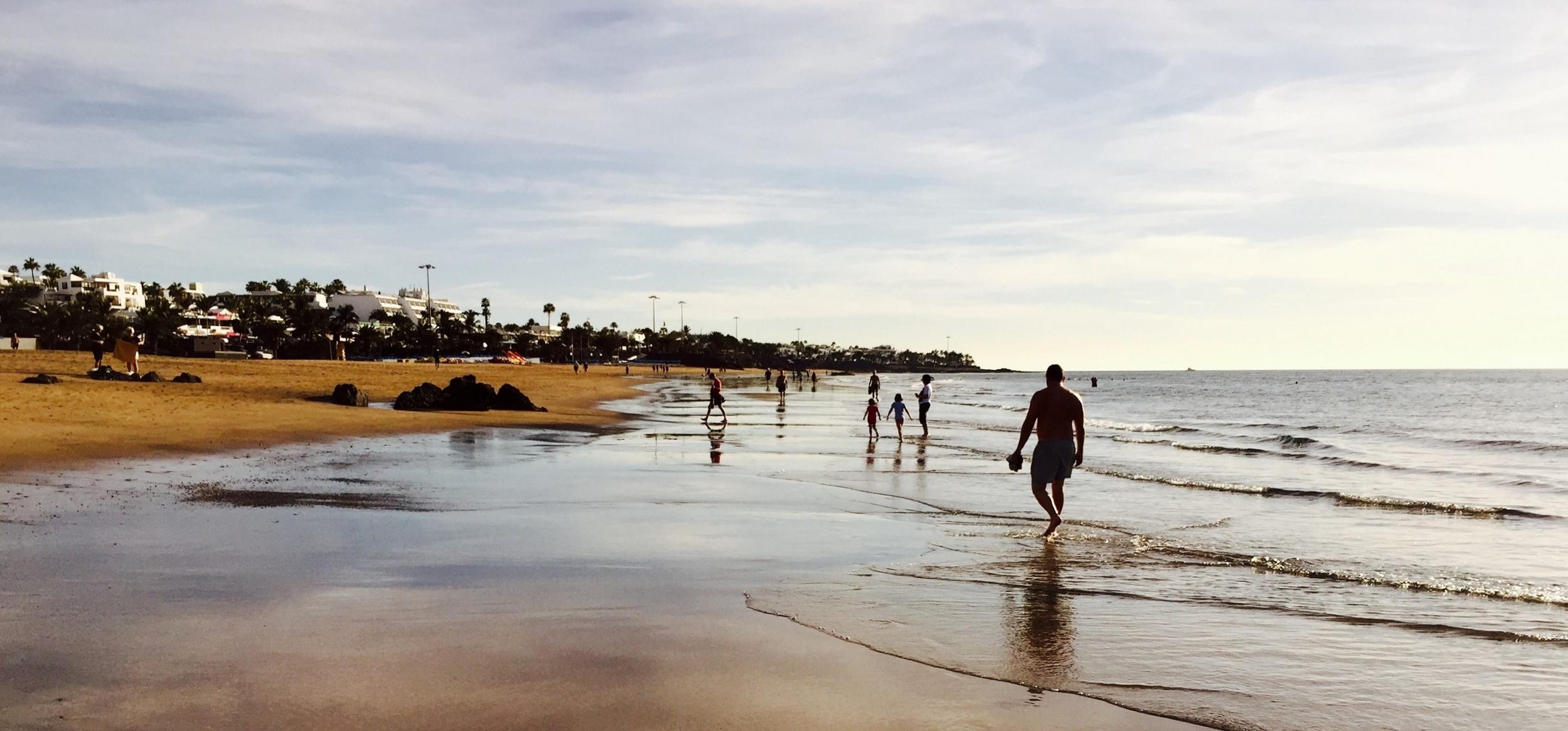 Playa Grande, Puerto del Carmen, Lanzarote, 14 de enero de 2016