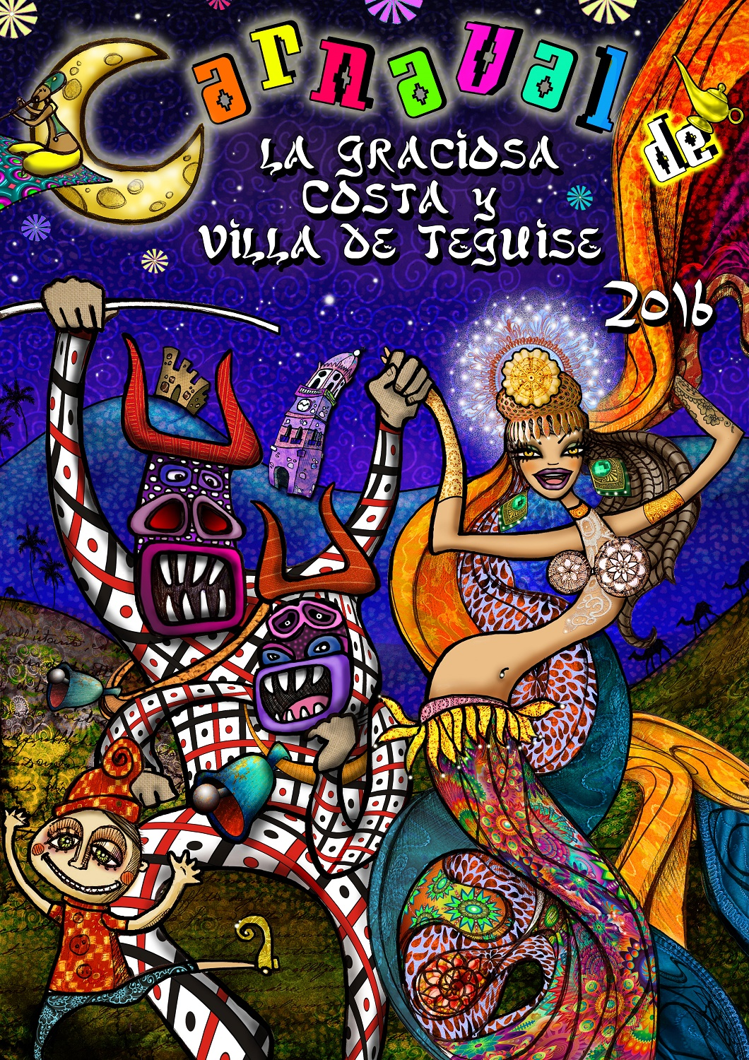 Cartel carnaval Costa Teguise 2016