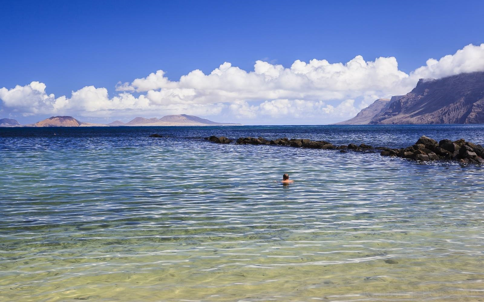 La Caleta de Famara, baños, playas, Lanzarote, Fotografía, Ramón Pérez Niz