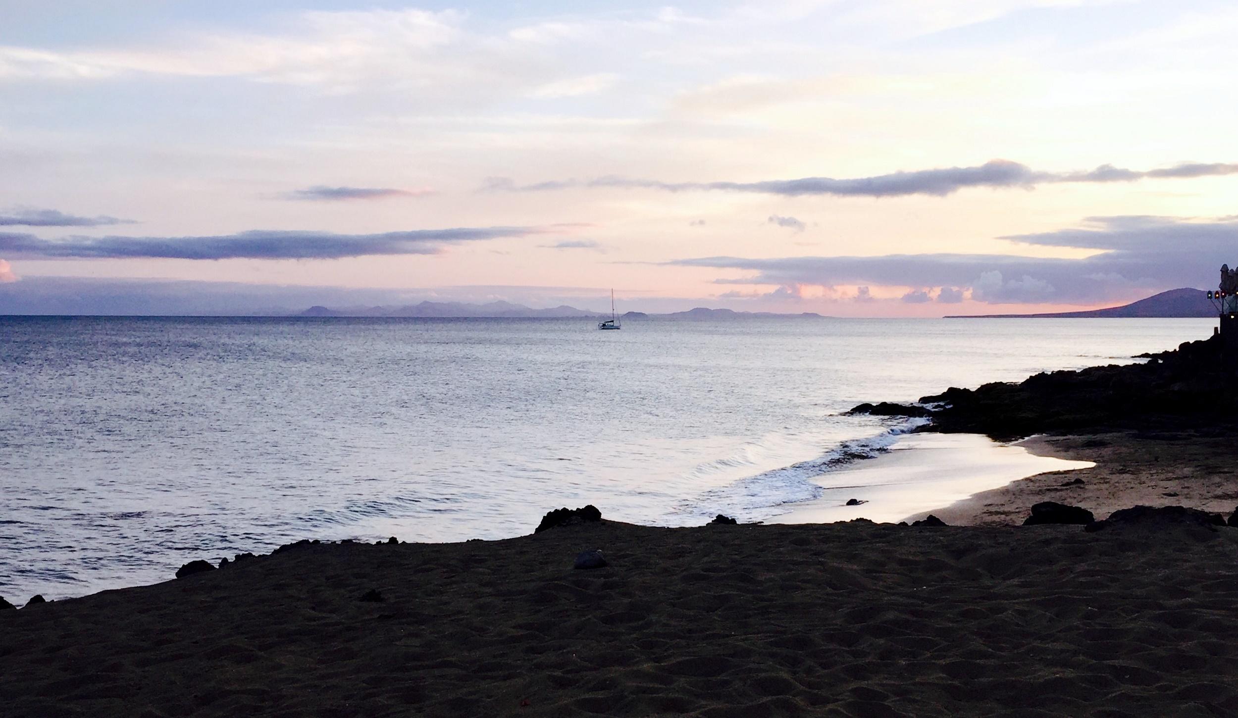 Un velero, isla de Lobos, Fuerteventura