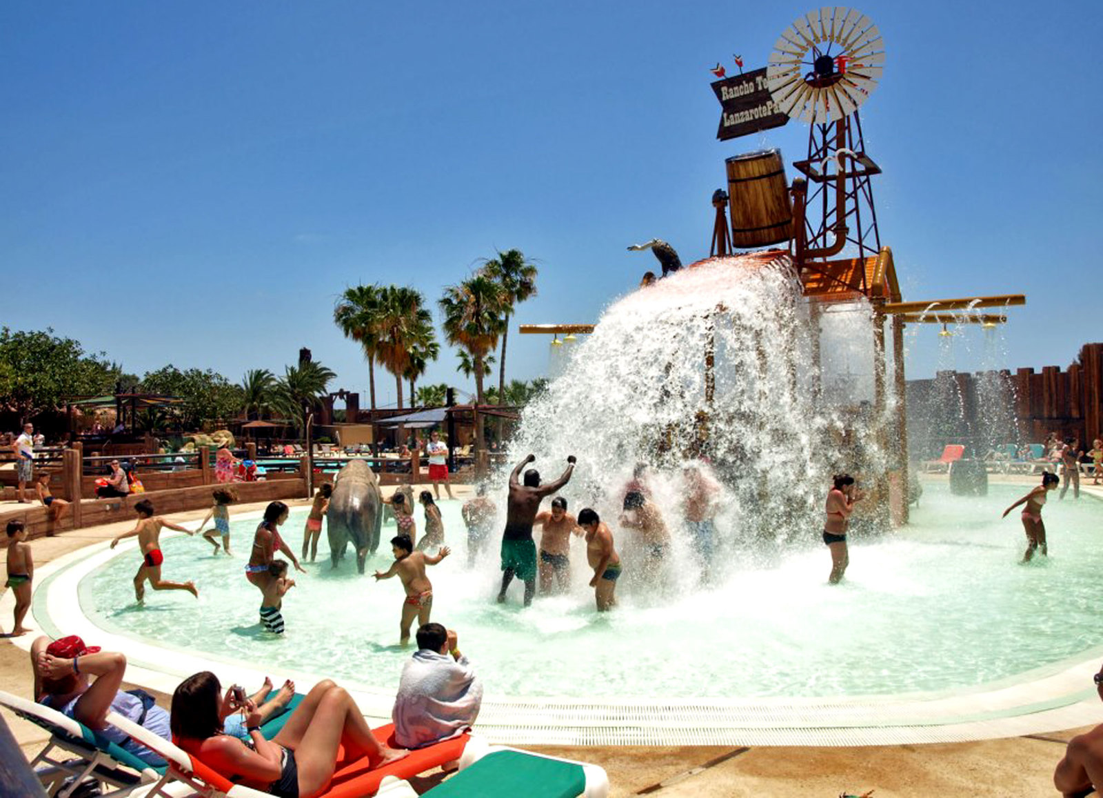 El corral del agua del Rancho Texas Park Lanzarote