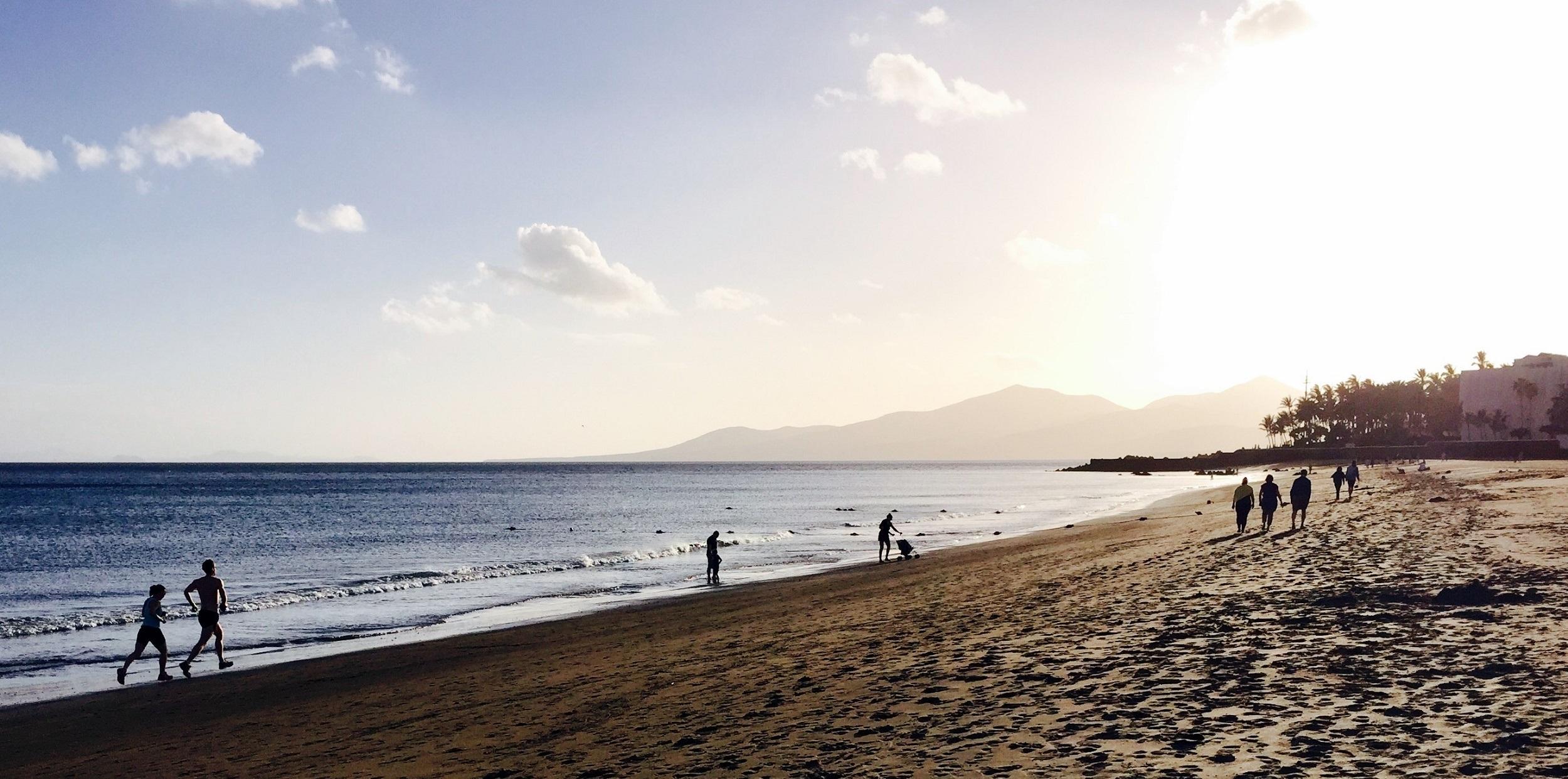 Playa Grande al atardecer