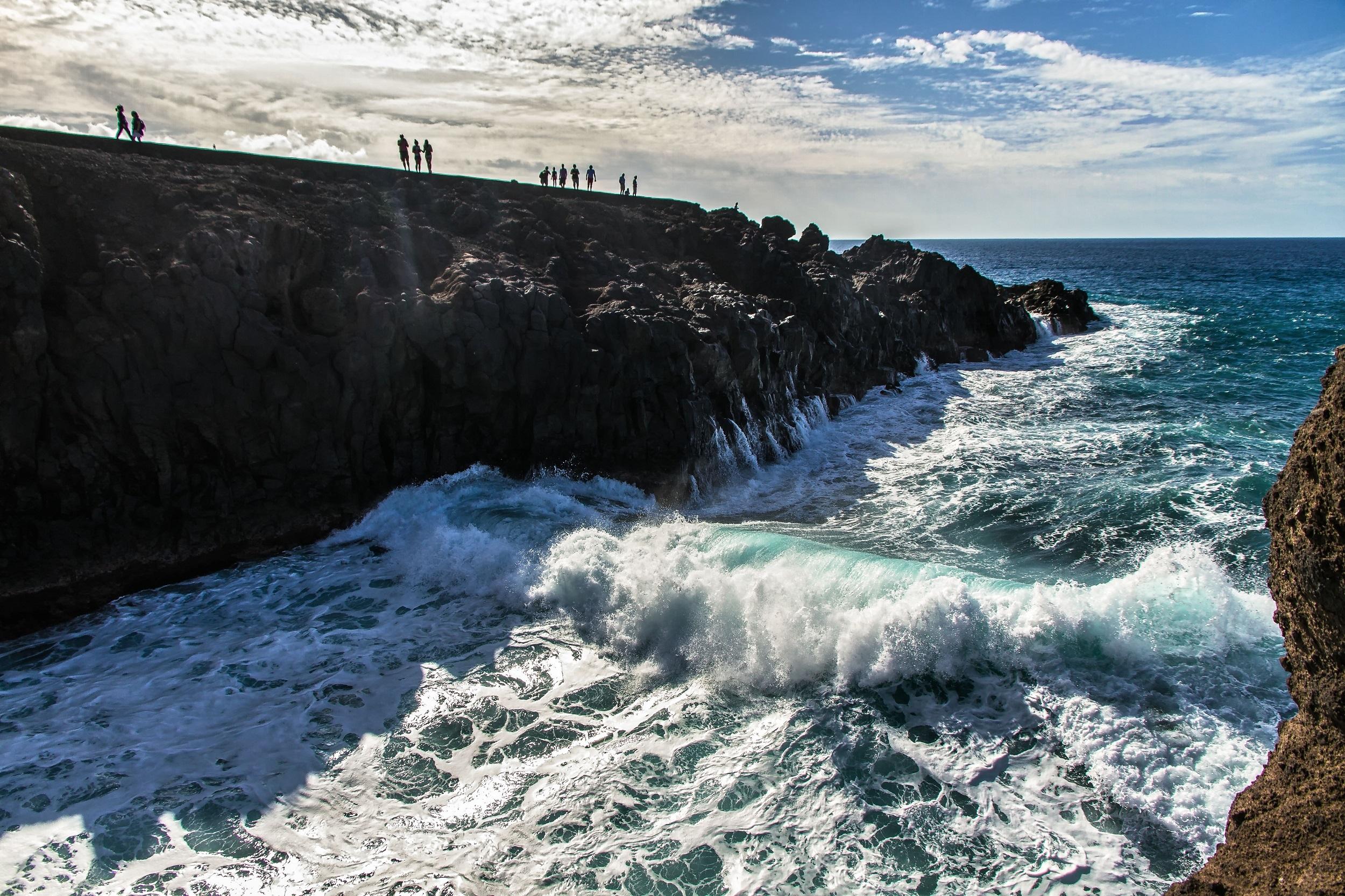 Los Hervideros Roar, Lanzarote, What you see
